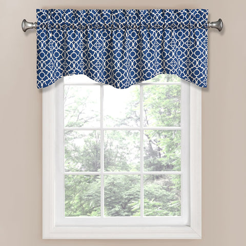 Lovely Lattice Valance- Indigo