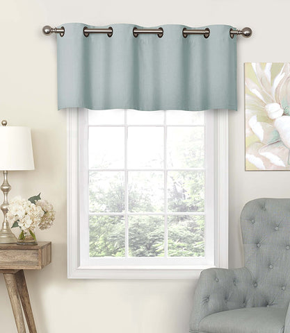 Nadya Grommet-Top Valance- Smokey Blue