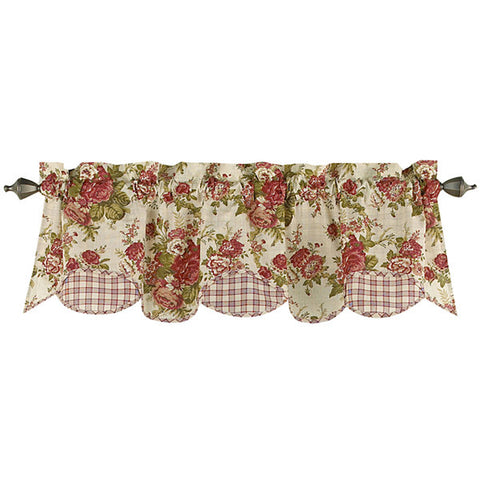 Norfolk Scalloped Valance- Tea Stain