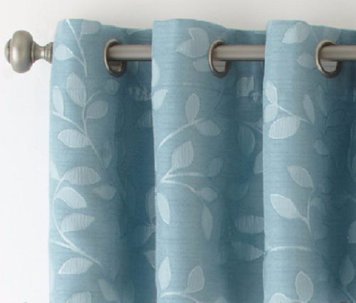 Blue Curtain Panels With Grommets Flisol Home
