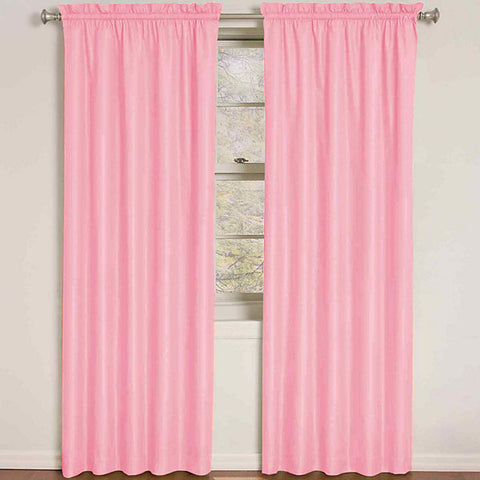 Quinn Wave Room-Darkening Rod-Pocket Panel- Pink