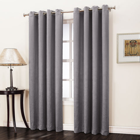 Asher Grommet-Top Curtain Panel- Frost