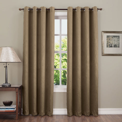 Asher Grommet-Top Curtain Panel- Mink