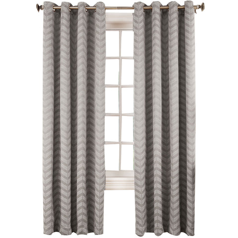 Cadiz Room-Darkening Grommet-Top Curtain Panel- Gray