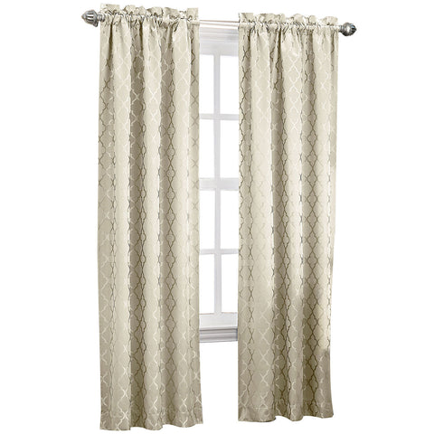 Dion Rod-Pocket Room-Darkening Curtain Panel- Ivory