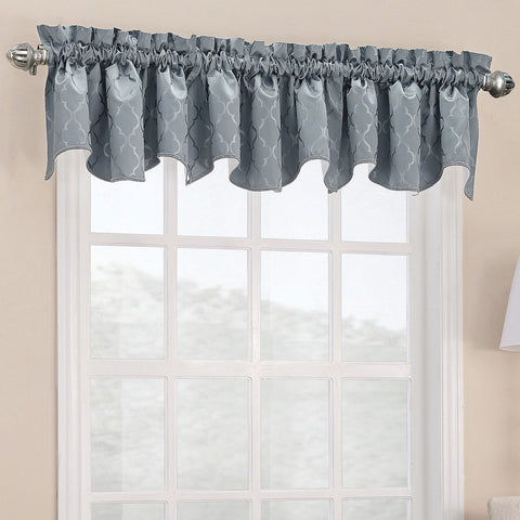 Dion Rod-Pocket Shaped Valance- Mineral