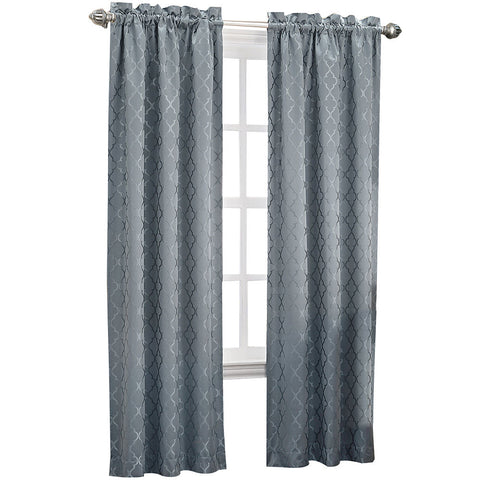 Dion Rod-Pocket Room-Darkening Curtain Panel- Mineral