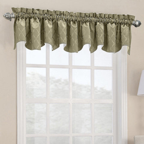 Dion Rod-Pocket Shaped Valance- Taupe