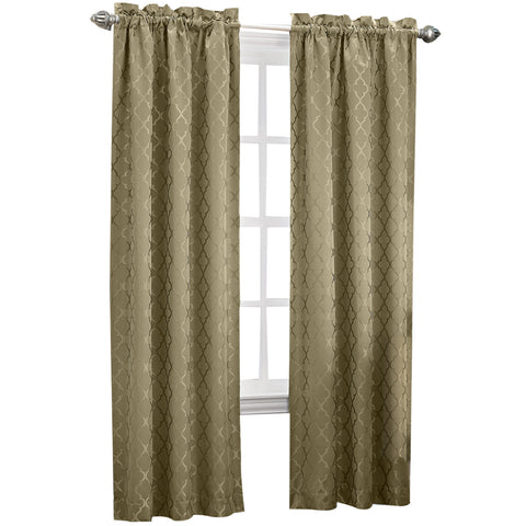Dion Rod-Pocket Room-Darkening Curtain Panel- Taupe