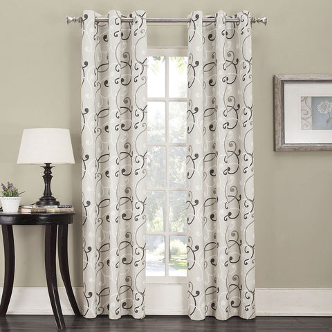 Easton Thermal Lined Grommet-Top Curtain Panel- Natural