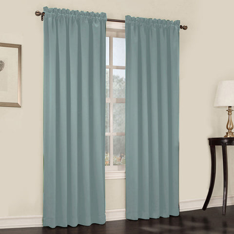 Emory 2-Pack Room-Darkening Rod-Pocket Curtain Panels- Stormy Sea