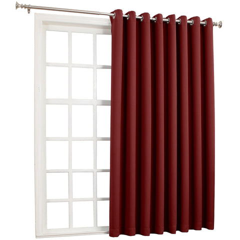Saxon Blackout Grommet-Top Patio Panel- Red