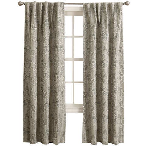 Mayfair Room-Darkening Rod-Pocket/Back-Tab Curtain Panel- Mushroom