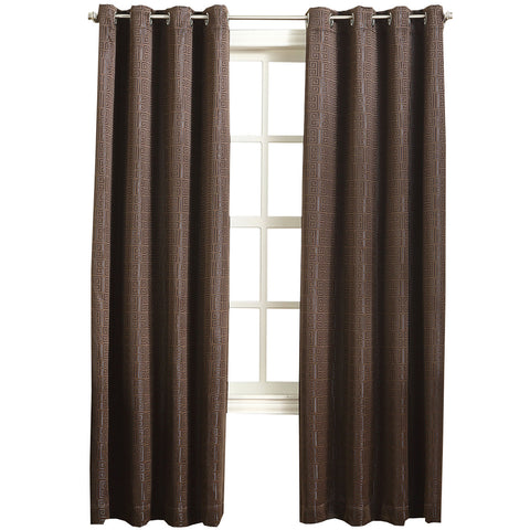 Toulouse Grommet-Top Curtain Panel- Cocoa