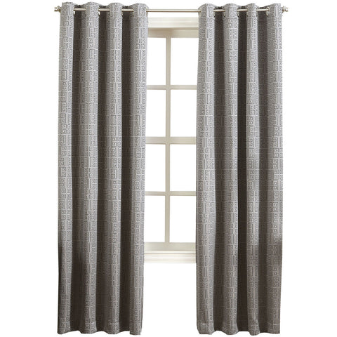 Toulouse Grommet-Top Curtain Panel- Gray