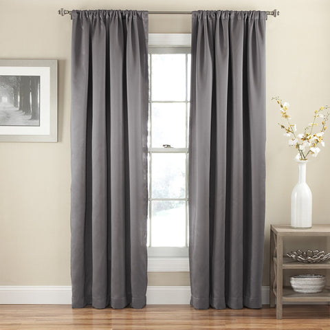 Tricia Room-Darkening Rod-Pocket Panel- Grey