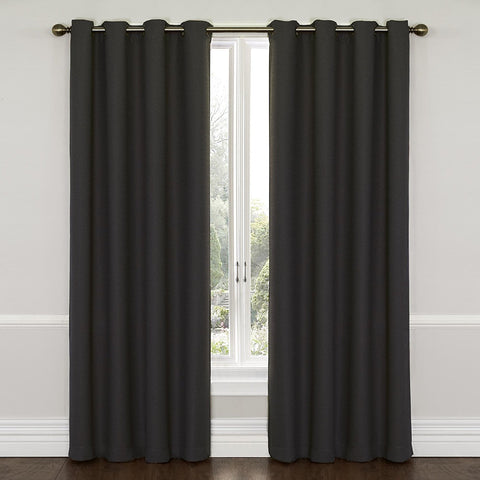 Westbury Room-Darkening Grommet-Top Panel- Charcoal
