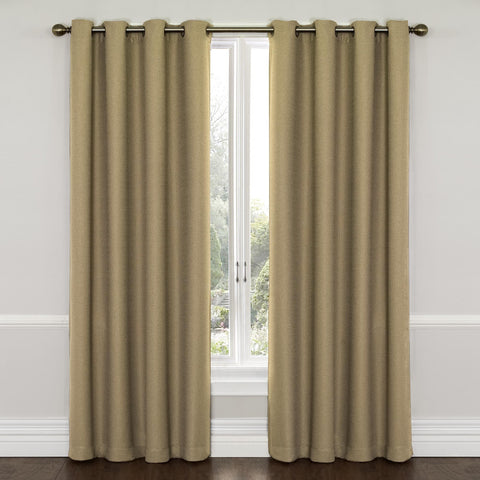 Westbury Room-Darkening Grommet-Top Panel- Latte