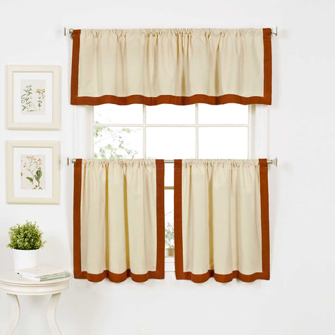 Wilton Rod-Pocket Window Tier Pair- Spice