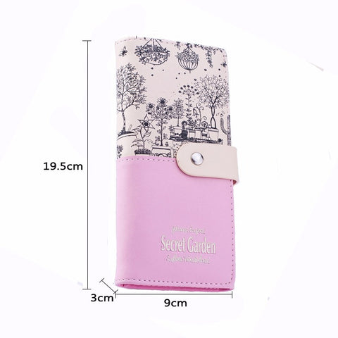JB Secret Garden Wallet Dimensions
