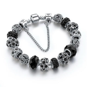 Black Friendship Charm Bracelet - Owlizh
