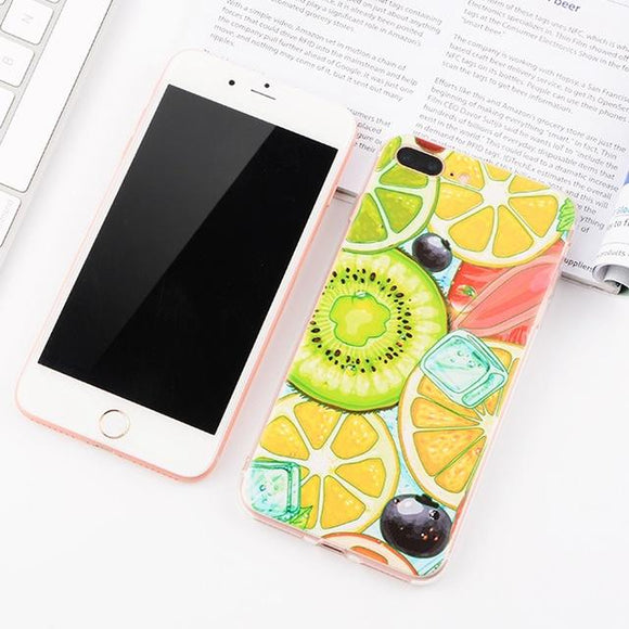 Cartoon Fruit iPhone Case (For iPhone 6 to X) - Owlizh