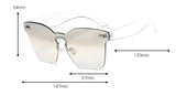Classic Transition Rimless Square Sunglasses-Sunglasses-Owlizh-Owlizh