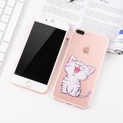 Cute Kitten iPhone Case (For iPhone 6, 6s, 6 Plus, 6s Plus 7, 7 Plus, 8, 8 Plus, X)-Phone Case-Owlizh-Cute Kitten-iPhone 7 Plus-Owlizh
