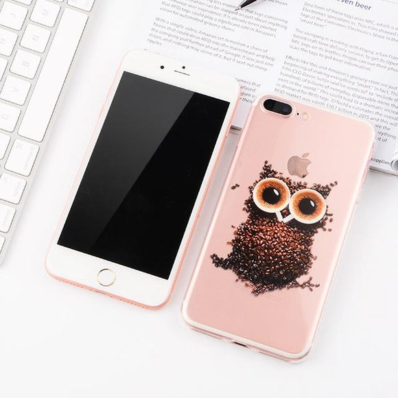 Cute Owl iPhone Case (For iPhone 6, 6s, 6 Plus, 6s Plus 7, 7 Plus, 8, 8 Plus, X)-Phone Case-Owlizh-Cute Owl-iPhone 7 Plus-Owlizh