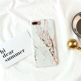Fitted Granite Stone Marble iPhone Case (For iPhone 6 to X) - Owlizh