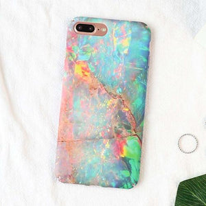 Fitted Shimmer Granite Stone iPhone Case (For Apple iPhone 7, 7 Plus, 8 & 8 Plus)-Phone Case-Owlizh-Shimmer-iPhone 7 Plus-Owlizh