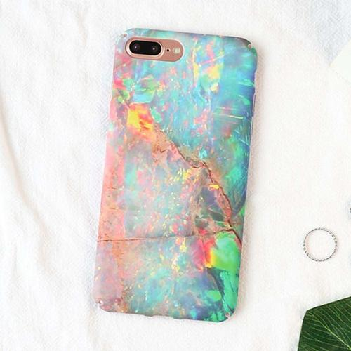 Fitted Shimmer Granite Stone iPhone Case (For iPhone 6 to X) - Owlizh