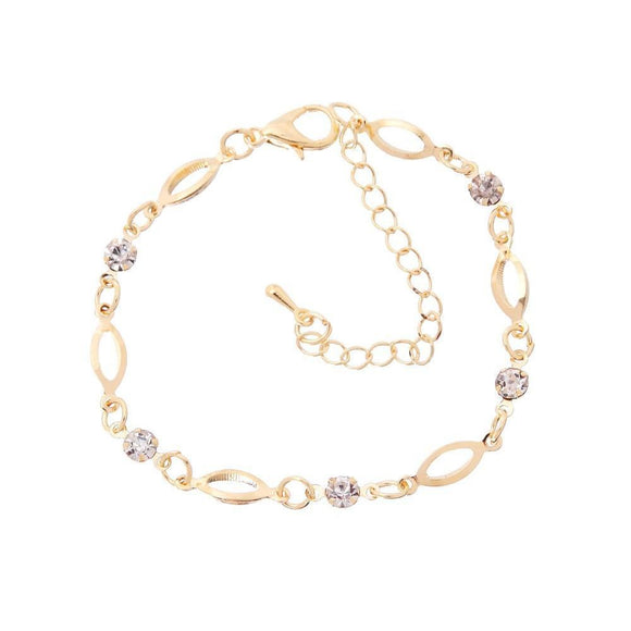 Gold Fish Eye Crystal Friendship Bracelet - Owlizh