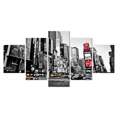 New York Minute-Canvas Painting-Owlizh-20cm X 35cm X 2 Pieces; 20cm X 46cm X 2 Pieces; 20cm X 66cm X 1 Piece-Owlizh