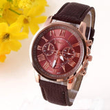 Platinum Design Leather Watch For Women-Watches-Owlizh-Brown-Owlizh