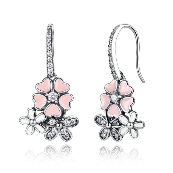 Cherry Blossom Sterling Silver Earrings - Owlizh