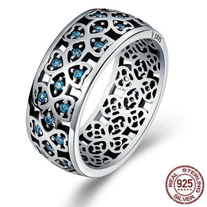 Blue Clover 100% Sterling Silver Ring - Owlizh