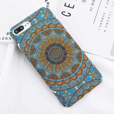 Matt Summer Flower Mandala iPhone Case (For iPhone 6 to X)