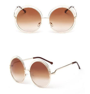 Round Oversized Retro Sunglasses - Owlizh