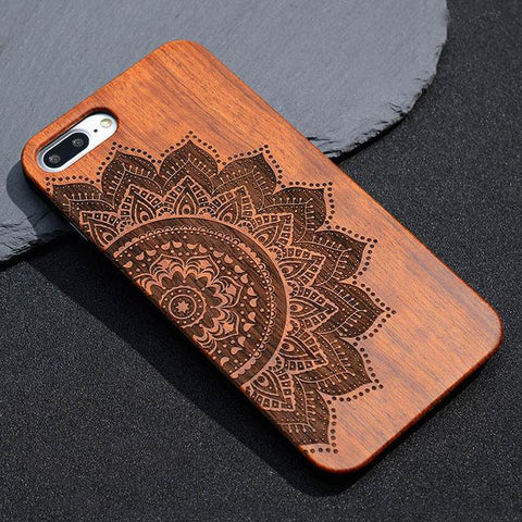 Solid Bamboo Mandala Phone Case For iPhone & Samsung-Phone Case-Owlizh-Bamboo-iPhone 6 & 6S-Owlizh