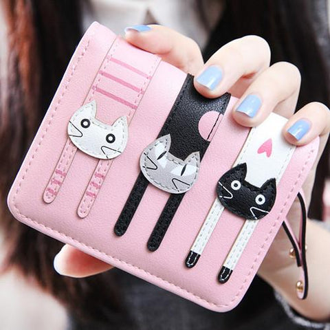 Stretched Cats Wallet-Wallet-Owlizh-Pink-Owlizh
