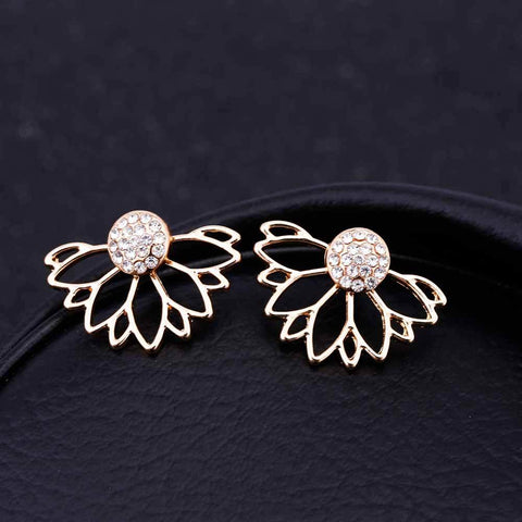 Unfolding Flower Earrings-Earring-Owlizh-Owlizh