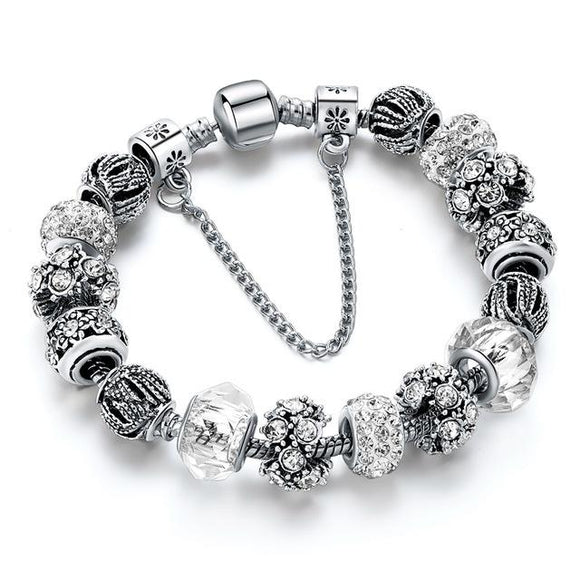 White Friendship Charm Bracelet - Owlizh