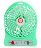 Portable Lithium Battery Fan & Power Bank-Green