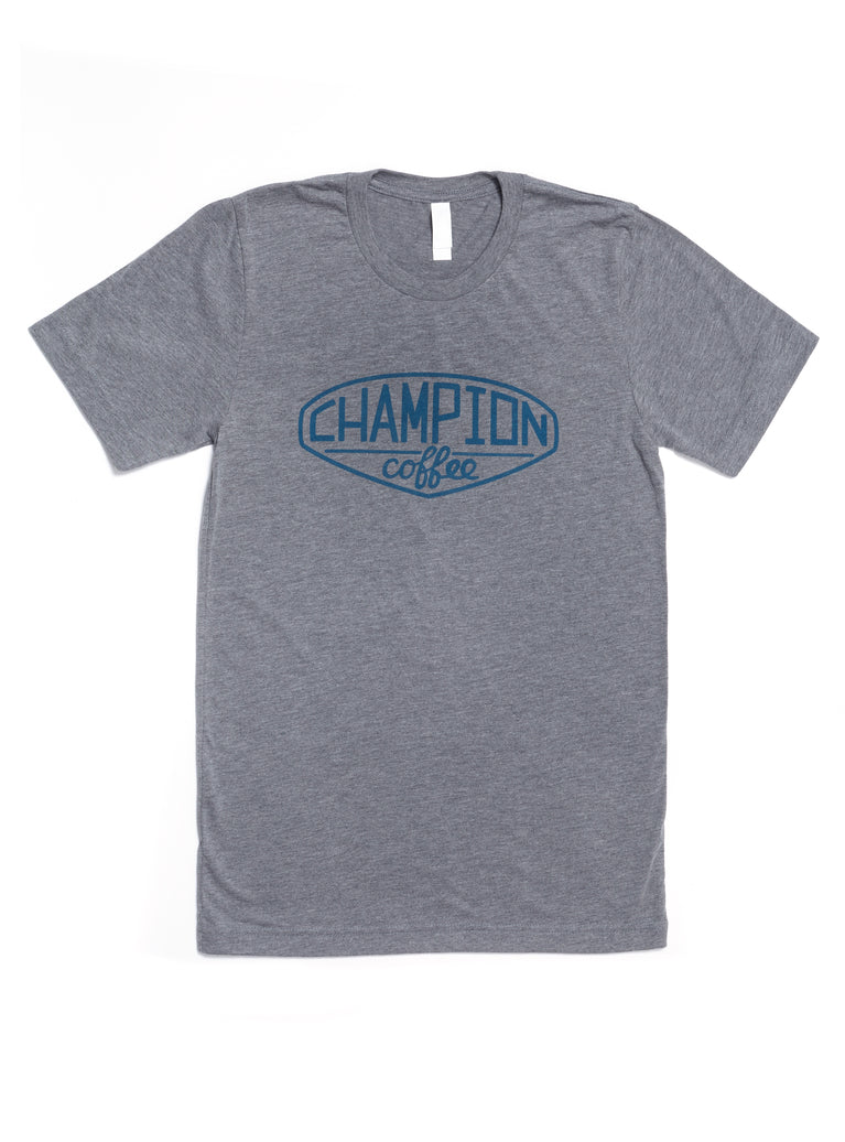 e8282889cc72 Grey Tee - Shop Champion Coffee