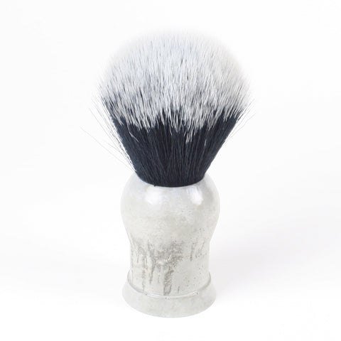 Above the Tie Concrete Shaving Brush - Synthetic Timber Wolf Knot