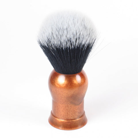 Above the Tie Copper / Bronze Color Shaving Brush - Synthetic Timber Wolf Knot
