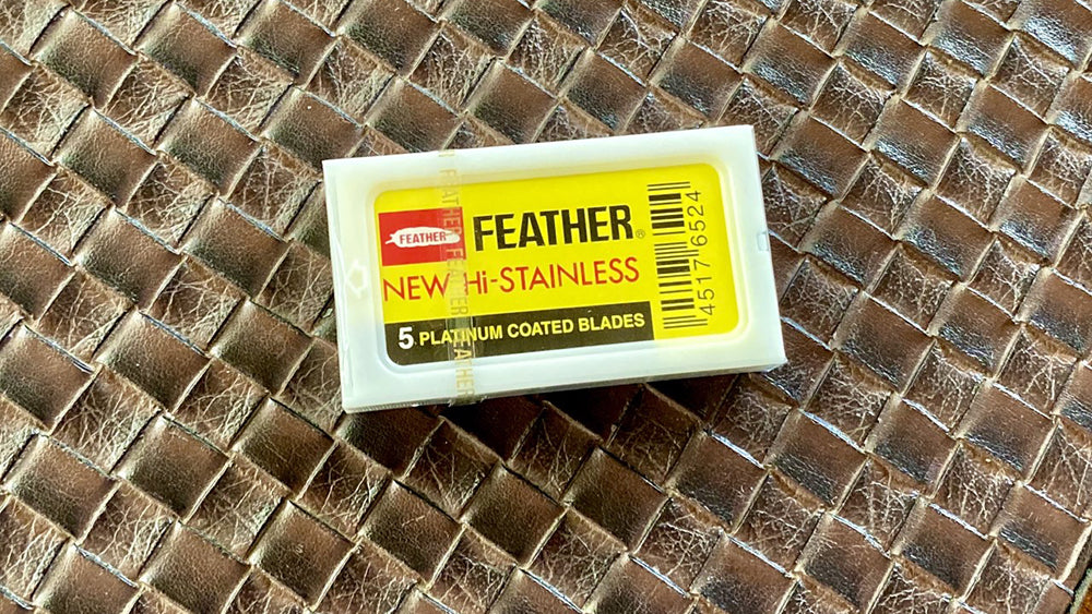 Feather Platinum Coated Double Edge Razor Blades