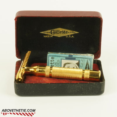 24K Gilette New Long Comb with Case 1934 - Above the Tie
