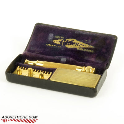24K Gold Gillette Old Type Pocket Edition 1920S Safety Razor